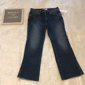 Free People Rita Crop Flare Jeans